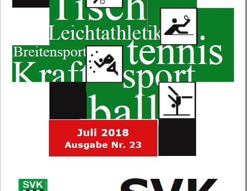 """""""SVK aktiv"""" Nr. 23 ist erschienen"""