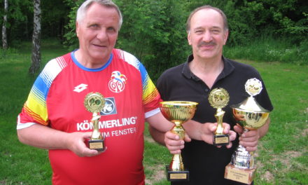 Wolfgang Frank zweimal Vereinsmeister
