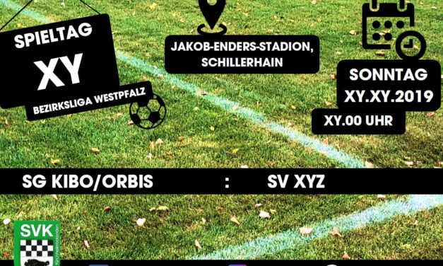 Spielplan Bezirksliga Westpfalz 2019/2020
